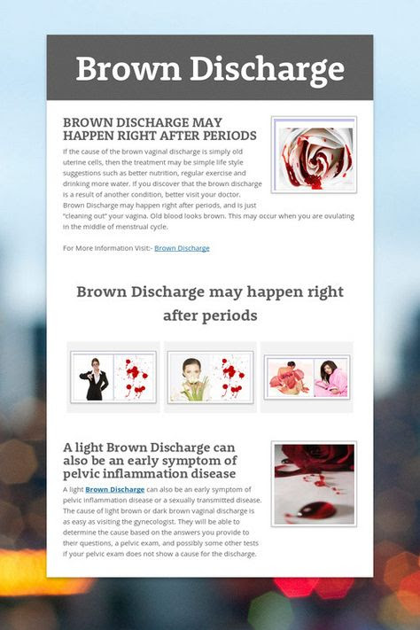 What if I have a brown discharge? |